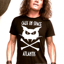 Load image into Gallery viewer, NEW! 'There Be Pirates' Black Atlantis Tee - Unisex and Women's Styles