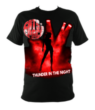 Load image into Gallery viewer, EXCLUSIVE to WEB STORE TEES 'THUNDER IN THE NIGHT' - UNISEX in BLACK (Sm - 3XL)