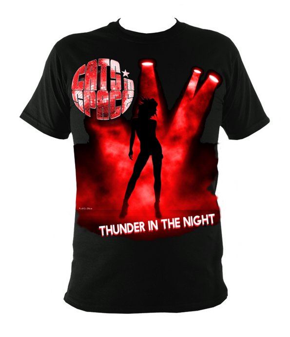 EXCLUSIVE to WEB STORE TEES 'THUNDER IN THE NIGHT' - UNISEX in BLACK (Sm - 3XL)