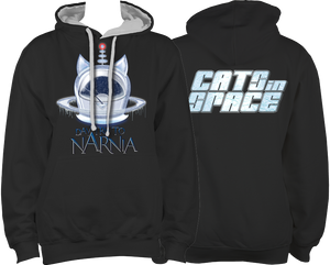 CATS in SPACE 'Daytrip to Narnia' Black & Grey Hoodie (Sm - 2XL)
