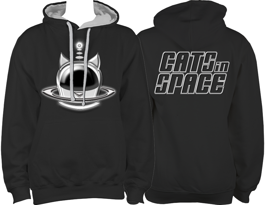 CATS in SPACE Classic Black/Grey Hoodie (Sm - 2XL)
