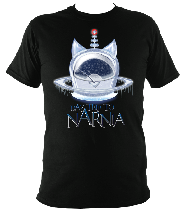 EXCLUSIVE to WEB STORE TEES 'Daytrip to Narnia' - Ice Pod  - UNISEX in BLACK (Sm- 3XL)
