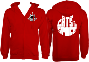 CATS in SPACE Fire Red CAT ZOODIE (Sm - 2XL)