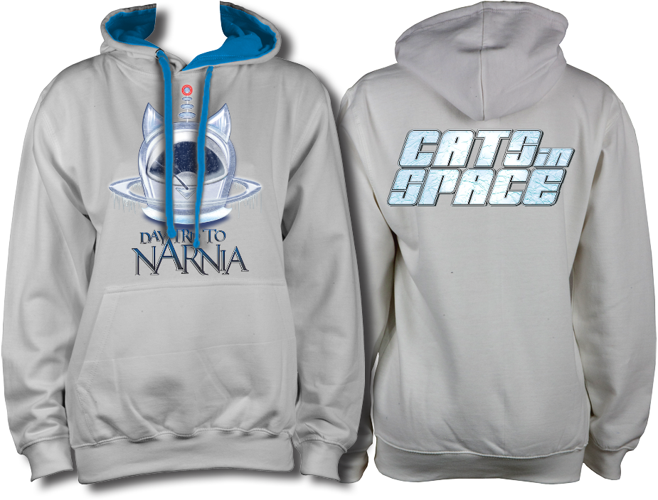 CATS in SPACE 'Daytrip to Narnia' Grey & Sapphire Hoodie (Sm - 2XL)