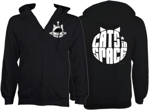CATS in SPACE Jet Black CAT ZOODIE (Sm - 2XL)