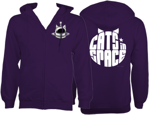 CATS in SPACE Purple CAT ZOODIE (Sm - 2XL)