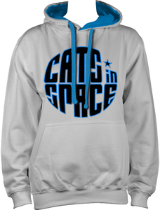 CATS in SPACE Classic Roundel Grey & Sapphire Hoodie (Sm - 2XL)