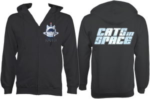 CATS in SPACE Storm Grey CAT ZOODIE (Sm - 2XL)