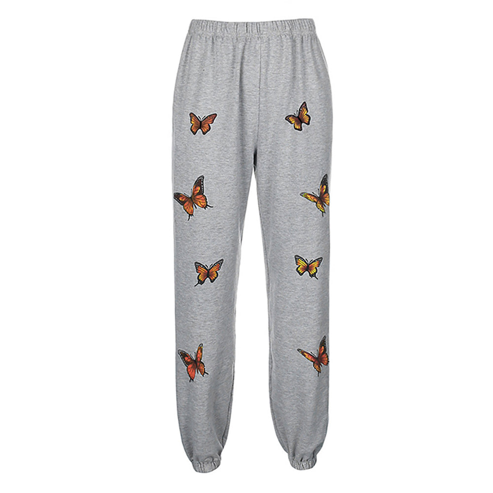 Shophot butterfly printed sweatpants for women main picture (front)