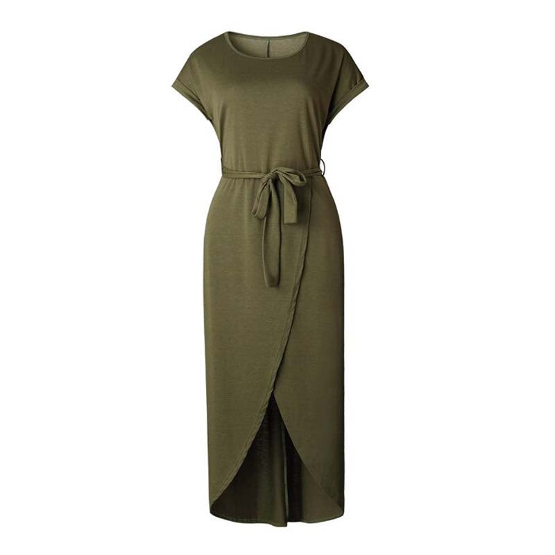 Tied Front Maxi Dress for Women in Green