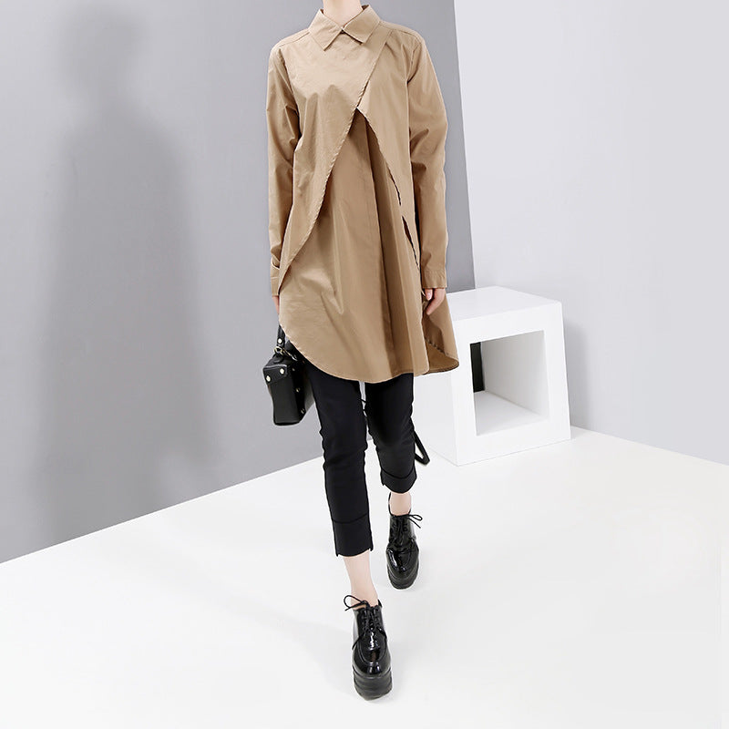 2021 Spring New Fashion Large Loose Shirt  Tops