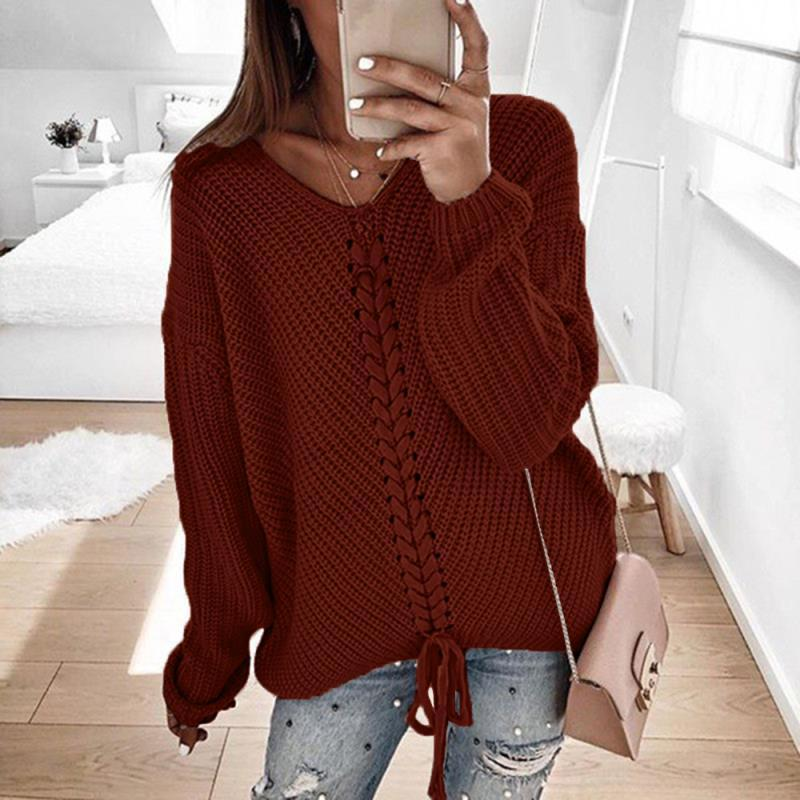 Spot French Women's Loose Stitching Sweater