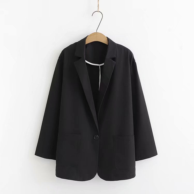 Spring 2021 New One-piece Button-down Blazer Jacket