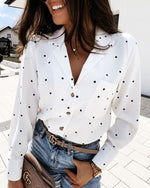 Floral Long-Sleeved Shirt Top
