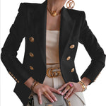 2021 New Women's Solid Color Fashion Leisure Blazer
