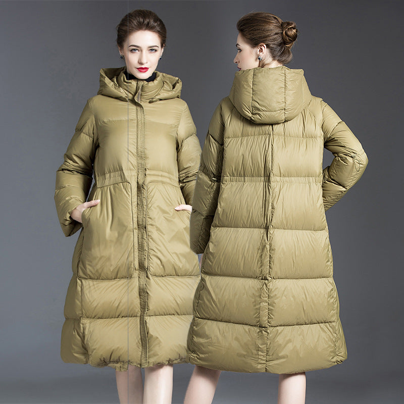 Shopping White Duck Down Oversized Down Jacket
