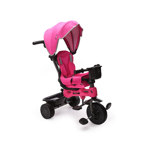 ChromeWheels 4-in-1 Kids' Trike & Stroller  Ride Tricycle Pink