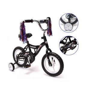 "ChromeWheels 12"" BMX Kids Bike EVA Wheels & Coaster Brakes Black"