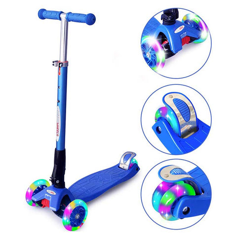 ChromeWheels Kids' Tricycle, with Pushing Handle and Grow-with Seat for 1-3 Years Old Toddler