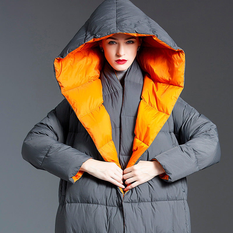 Shopping New Korean Thickened Hooded 90 White Duck Down Jacket
