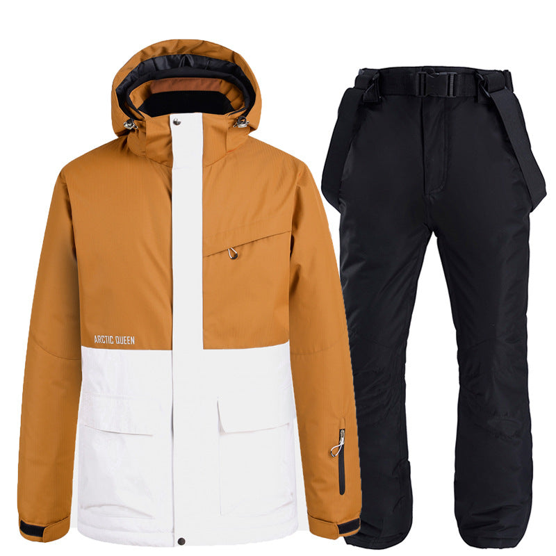 Windproof Waterproof Warm Padded Ski Suit
