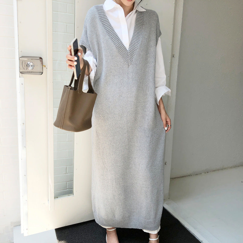 Vest Version Loose Plus Size Sweater Dress