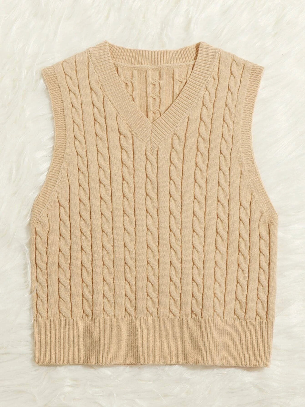 Spring and Summer Knitted Vest Pullover V-neck Sleeveless Sweater