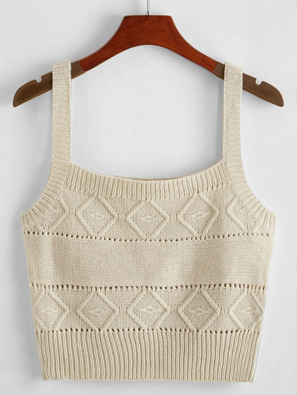 Spring/Summer 2021 Women's Small Camisole Solid Color Slim Knitting Sweater