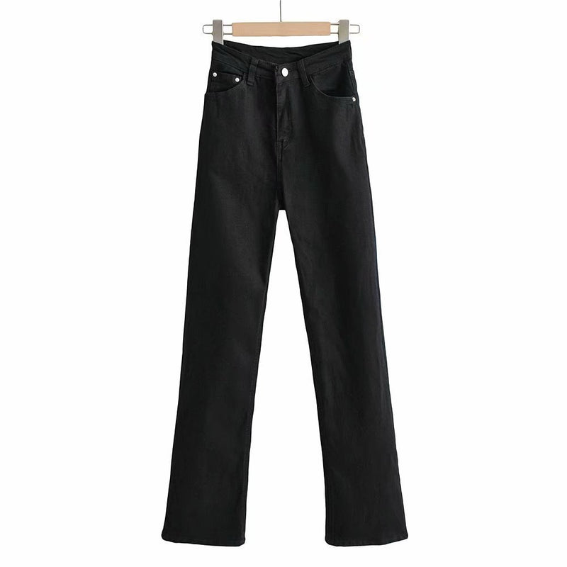 Micro Trumpet High Waist Jeans Pants Spring Straight Jeans
