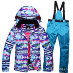 New Thickened Waterproof Warm Ski Suit