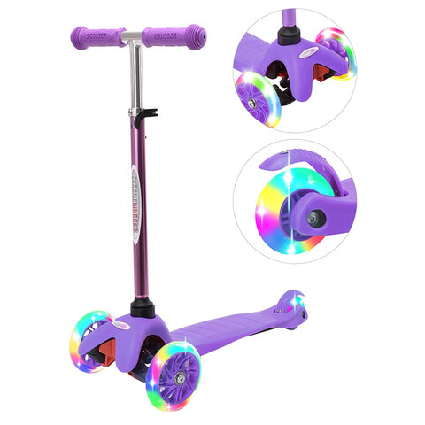 ChromeWheels Scooters for Kids, Deluxe Kick Scooter Foldable 3 Wheel