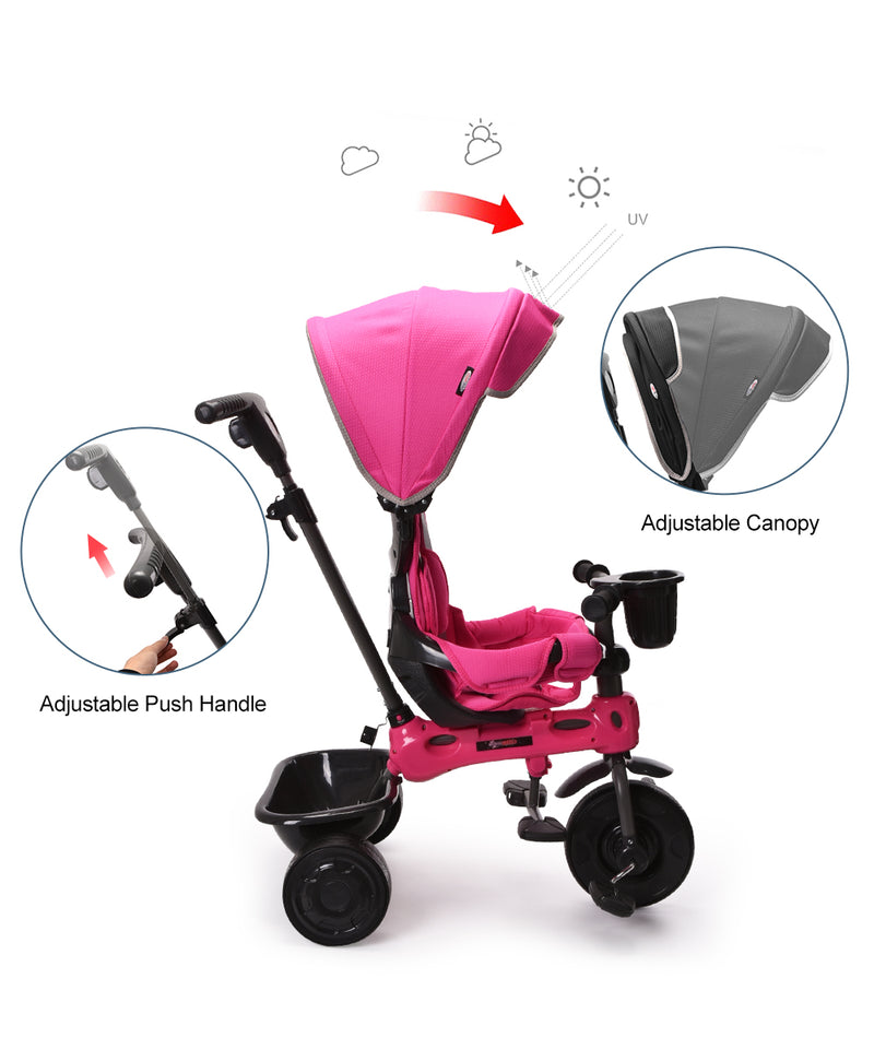 ChromeWheels Kids Stroller Ride Baby Tricycle Best Seller