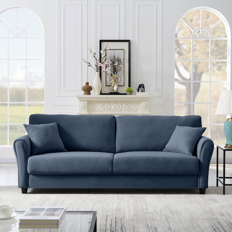 Home Simple Linen Three-Seater Sofa