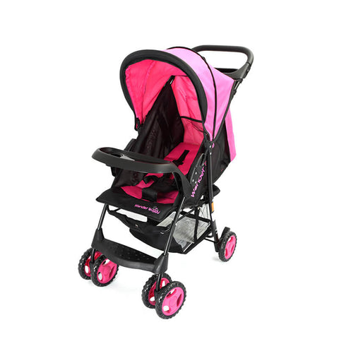 WonderBuggy Cameron Multi Position Baby Stroller With Basket & Canopy With Sun Visor