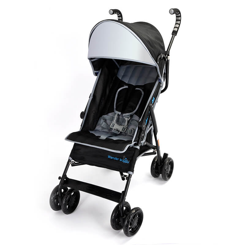 Wonder Buggy NANO Ultralight Compact Stroller with Reversible  Handle and Basket