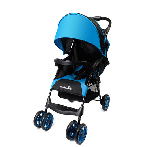 Wonder Buggy Baby Multi position easy fold stroller with round canopy