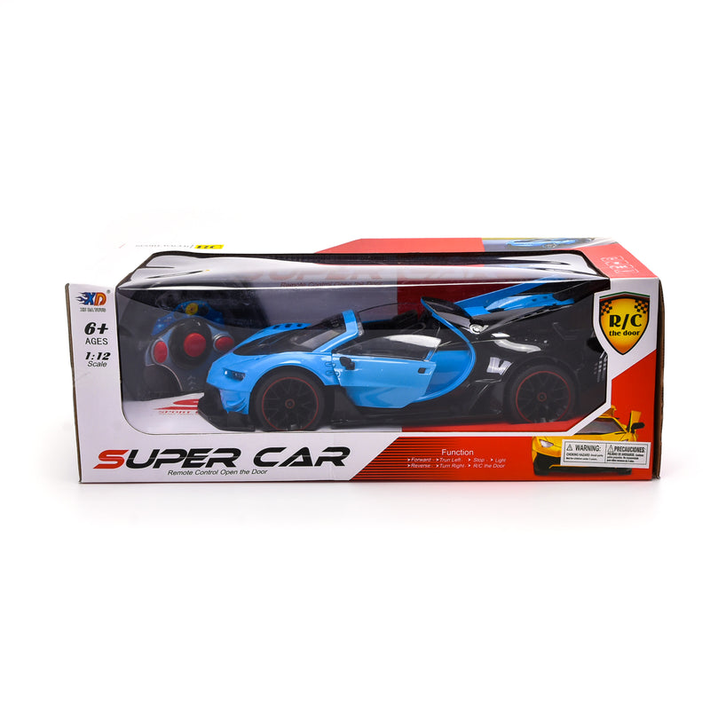 WonderPlay Car Toys 1:12 R/C Car with Light Openable Door Battery