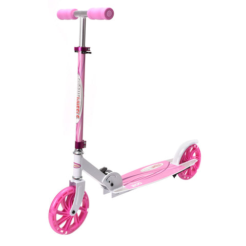 ChromeWheels Scooter for Kids, Deluxe Kick Scooters 4 Adjustable Height 2 Wheels Foldable