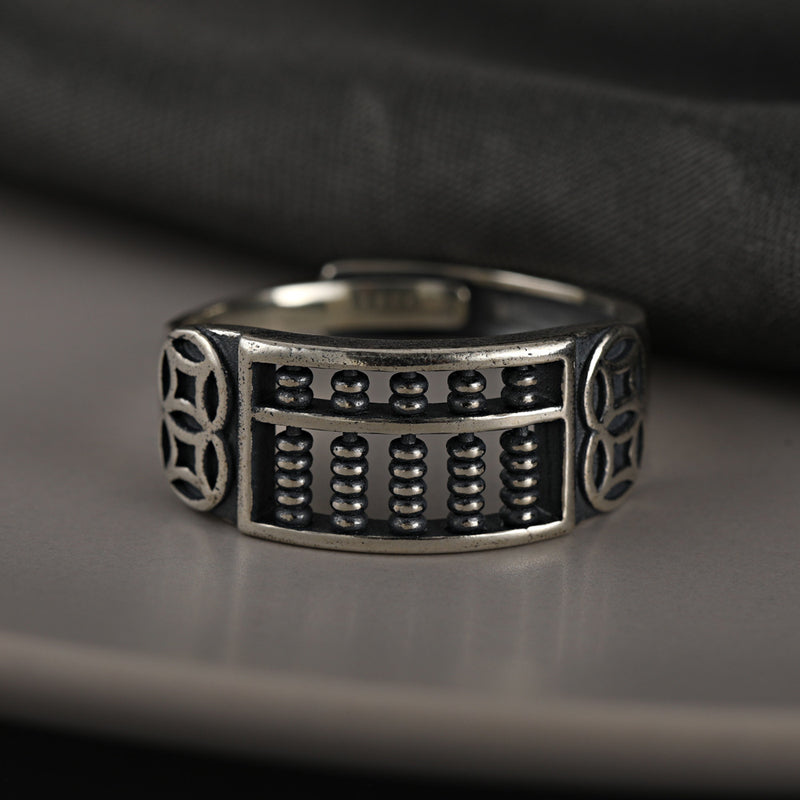 Small Abacus Copper Coin Ring