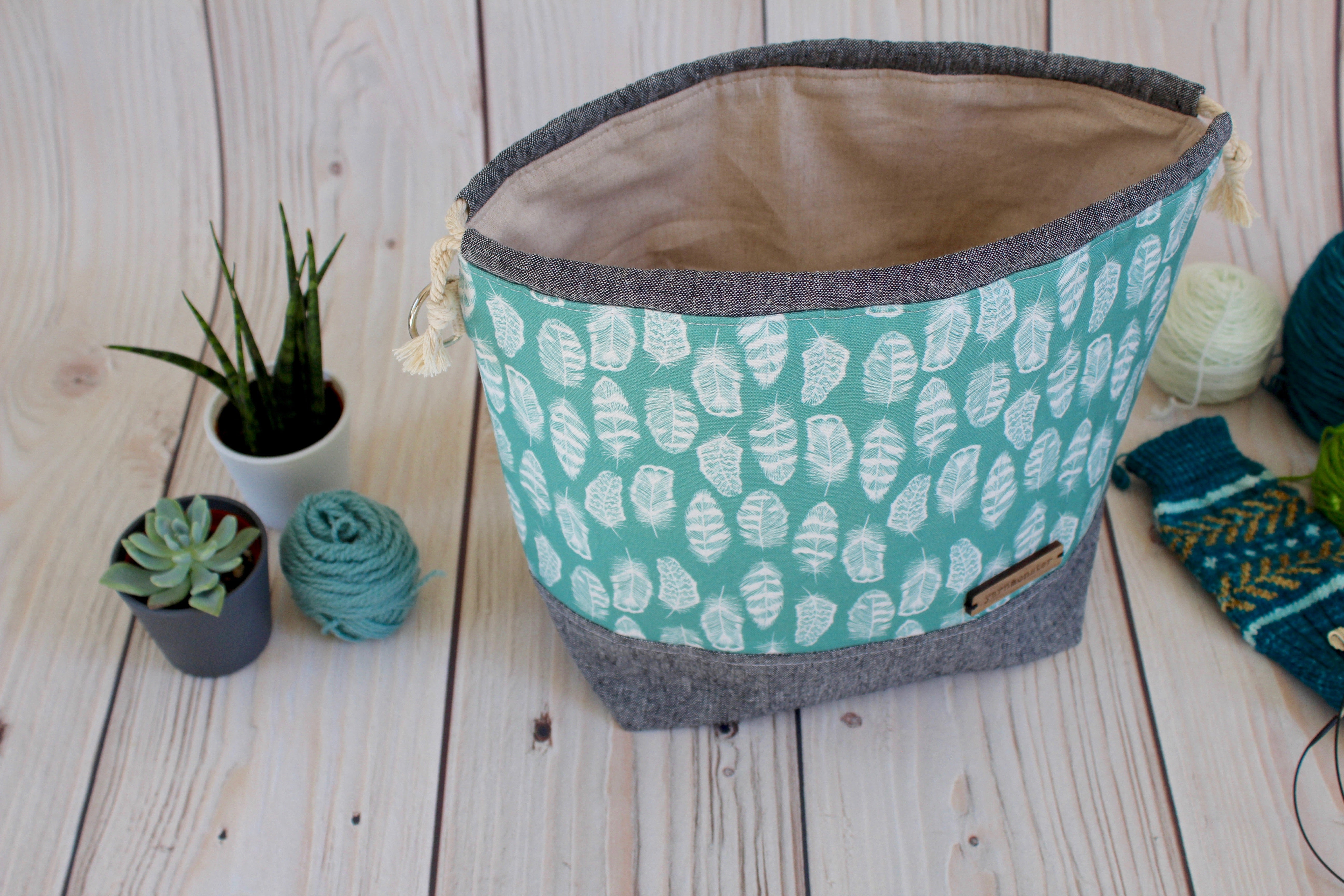 Shawl Sack | Teal Feather
