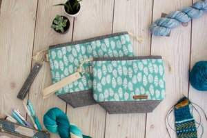 Sock Sack | Teal Feather