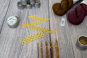 Yellow Rubber Large Set | Stitch Markers