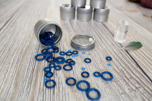 Blue Rubber Small Set | Stitch Markers