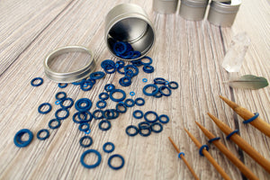 Blue Rubber Large Set | Stitch Markers