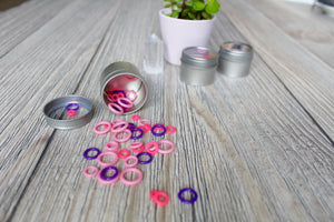 Pink Silicone Small Set | Stitch Markers