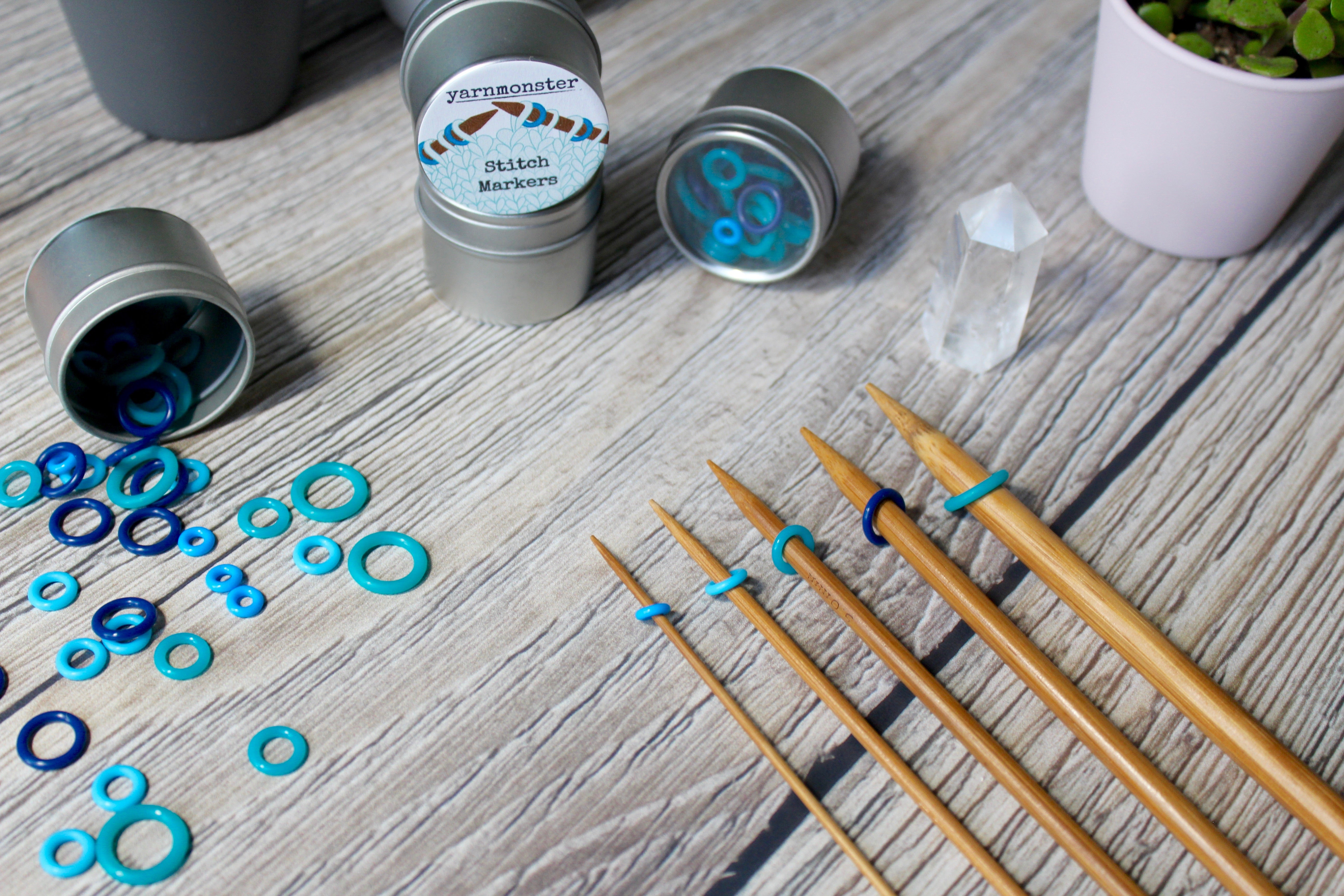 Blue Silicone Small Set | Stitch Markers