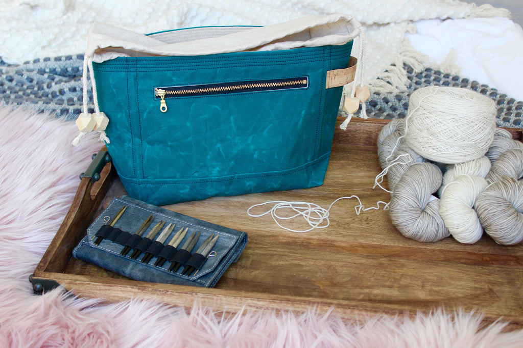 *PRE-ORDER* Mermaid Teal Waxed Canvas Niffin Bag