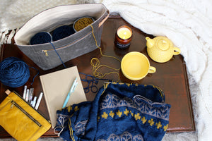 Yellow Waxed Canvas Devon Pouch