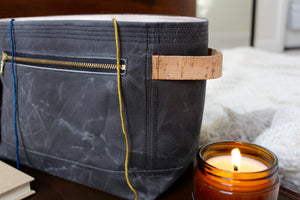 *PRE-ORDER* Charcoal Waxed Canvas Niffin Bag