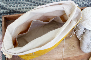 Yellow Waxed Canvas Niffin Bag